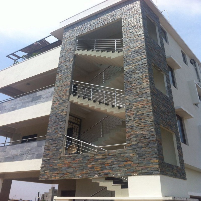 Elevation Stone Cladding : Kota stone bangalore wall cladding natural